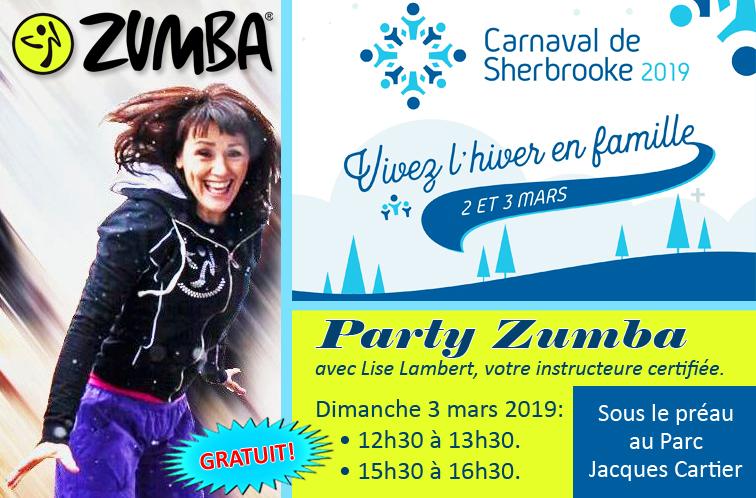 Partys Zumba au Carnaval de Sherbrooke